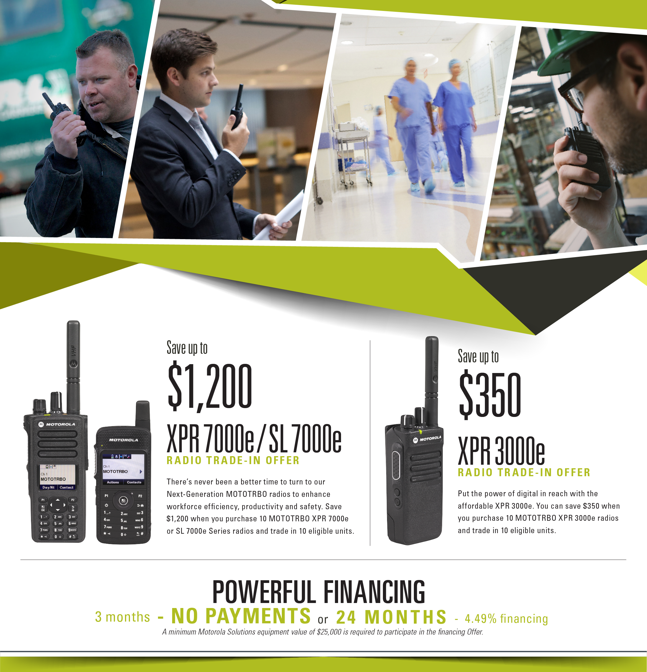 US Motorola MotoTrbo Promotions